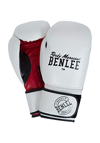 BENLEE Rocky Marciano Carlos Boxhandschuhe, White/Black/Red, 12 oz